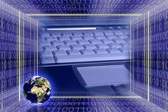 Technologie global de la información Foto de archivo libre de regalías