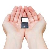 Technologie, hält es gerade, kleiner zu erhalten! Stockfotografie