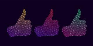 Technologie-Hand mit dem Daumen hoch und Steigung Lizenzfreie Stockbilder