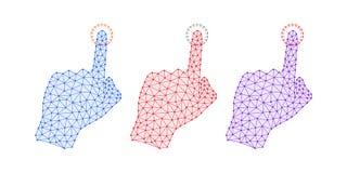 Technologie-Hand mit Linie Verbindungen, Plexus Stockbilder