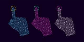 Technologie-Hand mit Linie Verbindungen, Plexus Stockfoto