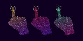 Technologie-Hand mit Steigung und Linie Verbindungen Stockfoto