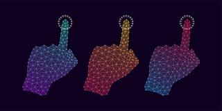 Technologie-Hand mit Steigung und Linie Verbindungen Lizenzfreie Stockfotografie