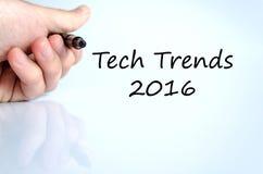 Technologie-het concept van de tendensen 2016 tekst Stock Fotografie