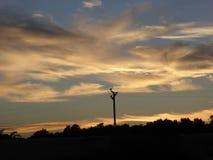 Technologie het overbruggen hemel en aarde Stock Afbeelding