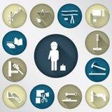Technologie-het pictogram van de hulpmiddelvlek Stock Afbeelding