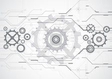 Technologie-Hintergrundillustration des abstrakten Vektors zukünftige vektor abbildung