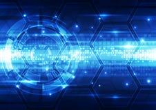 Technologie-Hintergrundillustration des abstrakten Vektors zukünftige Lizenzfreie Stockfotografie
