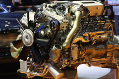 Technologie-hybrider glänzender Motor Stockfoto
