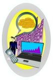 Technologie i pieniądze Fotografia Royalty Free