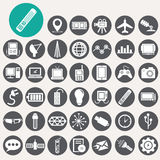Technologie-Ikonen eingestellt Lizenzfreie Stockfotografie