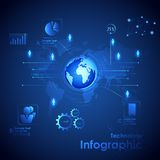 Technologie Infographic Photographie stock