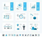 Technologie Infographic Elemente Stockbilder