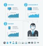 Technologie Infographic Elemente Lizenzfreies Stockbild