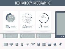 Technologie Infographic Elemente Lizenzfreie Stockbilder