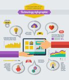 Technologie Infographic Elemente Lizenzfreies Stockfoto