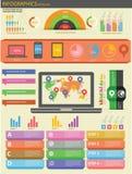 Technologie Infographics en Elementen Stock Fotografie