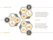 Technologie Infographics-Satz Diagramme und Elemente stock abbildung
