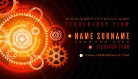 Technologie-Ingenieur-Visitenkarte-Schablone Lizenzfreie Stockfotos