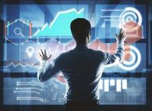 Technologie-, Innovations- und Kommunikationskonzept stockfotografie