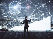 Technologie-, Innovations- und Netzkonzept lizenzfreie stockfotografie