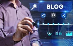 Technologie, Internet, Geschäft und Marketing Junges Geschäft pro Stockfotografie