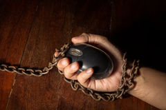 Technologie of Internet-slachtoffer, sociaal probleem Royalty-vrije Stock Foto's