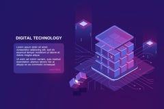Technologie isométrique de vecteur photo stock