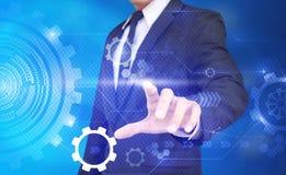 Technologie-kerel dringende geavanceerd technisch royalty-vrije stock afbeeldingen