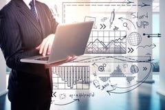 Technologie-, Kommunikations- und Erfolgskonzept lizenzfreies stockbild