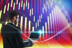 Technologie-, Kommunikations- und Finanzkonzept Stockbild