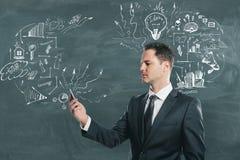 Technologie-, Kommunikations- und Ideenkonzept Stockfotos