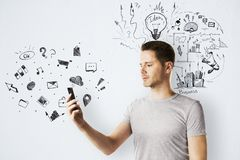 Technologie-, Kommunikations- und Plankonzept stockfotos