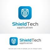 Technologie Logo Template Design Vector, emblème, concept de construction, symbole créatif, icône de bouclier Photos libres de droits