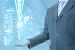 Technologie médicale d'homme d'affaires images libres de droits