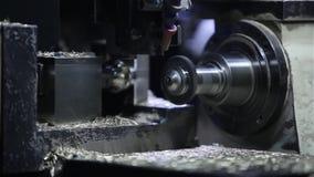 Technologie-machine bij de fabriek Verwerkingsdetails stock footage