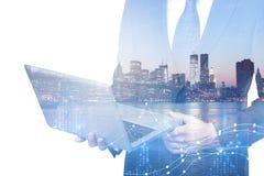 Technologie-, Markt- und Gewinnkonzept Stockfoto