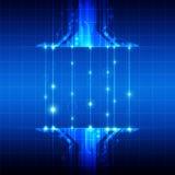 Technologie mit Faseroptik Stockfoto