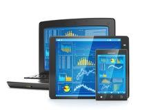 Technologie mobile pour des affaires Photos stock