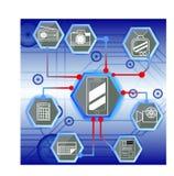 Technologie in moblie Stock Afbeelding