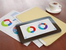 Technologie moderne dans l'analyse commerciale Image stock