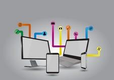 Technologie-multimedia Royalty-vrije Stock Afbeeldingen