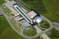 Technologie-Museum, Saloniki, Griechenland, von der Luft Lizenzfreies Stockbild