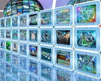 Technologie-muur Stock Foto's