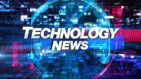Technologie-Nachrichten - Sendungs-Nachrichten-Grafiken betiteln stock abbildung