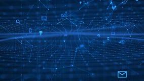 Technologie-Netz-Hintergrund Lizenzfreie Stockfotos