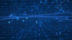 Technologie-Netz-Hintergrund lizenzfreies stockfoto