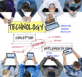 Technologie-Nomogramm-Prozess-Ikone Stockfotografie