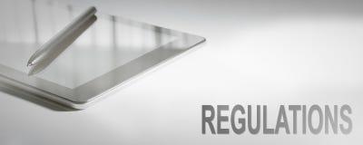 Technologie numérique de concept d'affaires de RÈGLEMENTS image stock