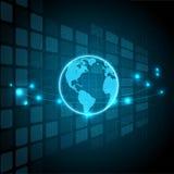 Technologie numérique et globes, milieux abstraits illustration libre de droits
